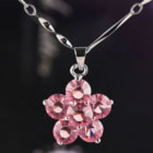 Jewelry - Pink Sapphire Flower Chain Necklace